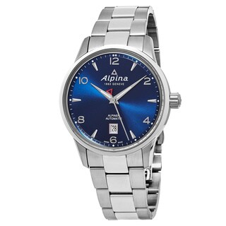 Alpina Men's AL-525N4E6B 'Alpiner' Blue Dial Stainless Steel Swiss Automatic Watch
