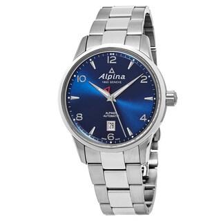 Alpina Men's AL-525N4E6B 'Alpiner' Blue Dial Stainless Steel Swiss Automatic Watch