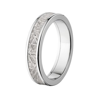 Flat Titanium Meteorite 5mm Ring