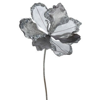 Vickerman Pewter 20-inch Faux Amaryllis With 9-inch Flower (Pack of 3)