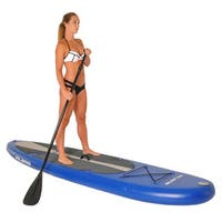 Vilano Navigator 10-foot Long 6-inchThick ILicensed NFLatable SUP Stand Up Paddle Board Package