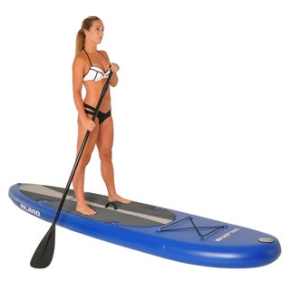 Vilano Navigator 10-foot Long 6-inchThick ILicensed NFLatable SUP Stand Up Paddle Board Package (2 options available)
