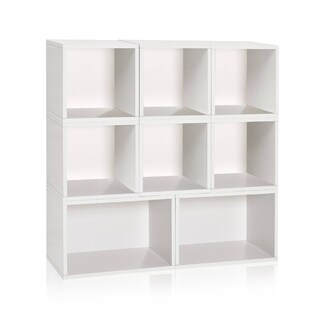 Milan Modular Storage System Eco Bookcase Shelving LIFETIME WARRANTY (made from sustainable non-toxic zBoard paperboard)