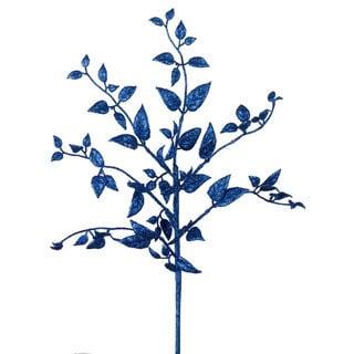 Vickerman Blue Glitter 22-inch Mini Locust Spray (Pack of 12)