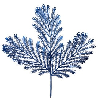 Vickerman 22-inch Blue Glitter Peacock Tail Sprays (Pack of 12)