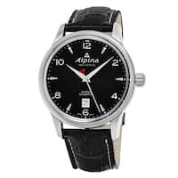Alpina Men's  'Alpiner' Black Dial Black Leather Strap Swiss Automatic Watch