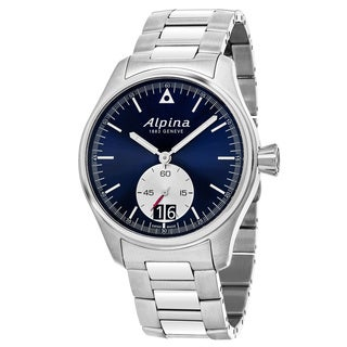 Alpina Men's AL-280NS4S6B 'StartimePilot' Blue Dial Stainless Steel Swiss Quartz Watch