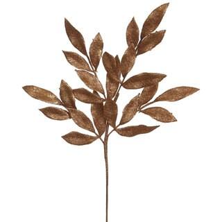Copper 22-inch Glitter Bay Leaf Spray (Pack of 12)