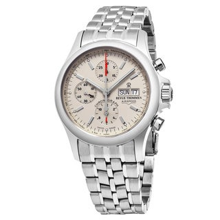 Revue Thommen Men's 17081.6132 'Pilot' Ivory Dial Stainless Steel Chronograph Swiss Automatic Watch