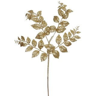 Vickerman 22-inch Gold Glitter Honey Locust Sprays (Pack of 12)