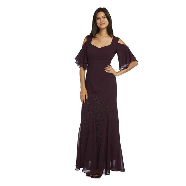 R&M Richards Flowing Sleeves Beaded Dress