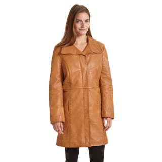 Excelled Women's Lambskin Leather Pencil Coat|https://ak1.ostkcdn.com/images/products/12345364/P19174597.jpg?impolicy=medium