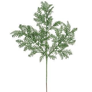 Vickerman 22-inch Green Glitter Cypress Spray (Pack of 12)
