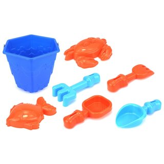 Velocity Toys Sea Creatures Bucket Children's Toy Beach Sandbox Sand Playset