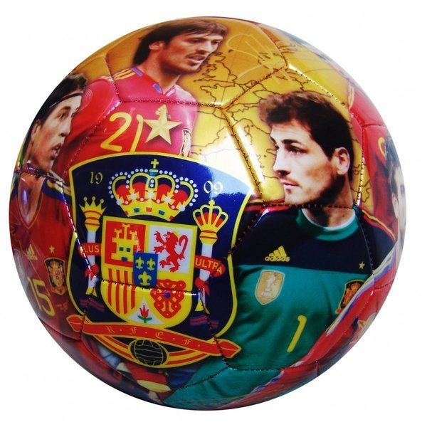 Seleccion Espanola Soccer Team Picture and Signature Size 5 Ball
