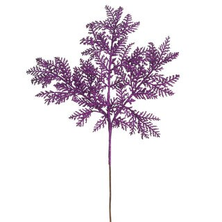 Vickerman 22-inch Purple Plastic Glitter Cypress Spray (Pack of 12)
