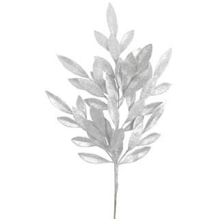 Vickerman Silver Glitter 22-inch Bay Leaf Spray (Pack of 6)