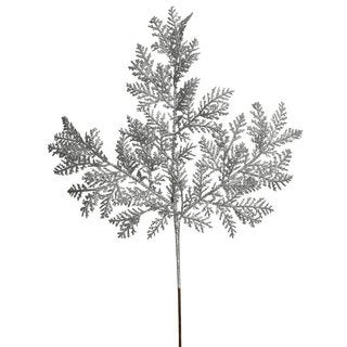 Vickerman Silver Glitter 22-inch Cypress Spray (Pack of 12)
