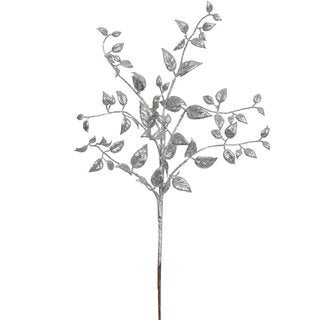 Vickerman 22-inch Silver Glitter Mini Locust Spray (Pack of 12)