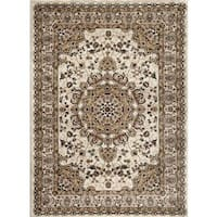 Persian Rugs Traditional Oriental Styled Ivory Background Area Rug (5'2 x 7'2)