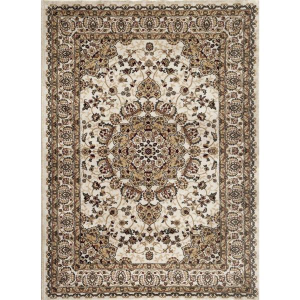 Area Rug Persian 9x12 Oriental Carpet Ivory Wool: Persian Rugs Traditional Oriental Styled Ivory Background