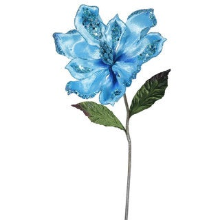 22-inch Sky Blue Magnolia with 9-inch Flower (Pack of 3)