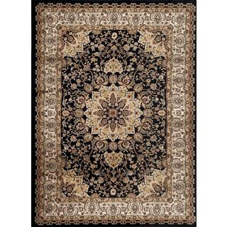 Persian Rugs Traditional Oriental Styled Black Multi Colored Area Rug (5'2 x 7'2)