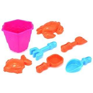 Velocity Toys Children's Sea Creatures Sandbox Bucket Playset