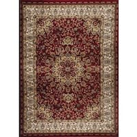 Persian Rugs Traditional Oriental Styled Burgundy Background Area Rug - 5'2 x 7'2