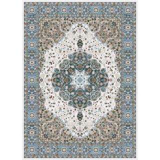 Persian Rugs Traditional Oriental Styled Blue Background Area Rug (5'2 x 7'2)
