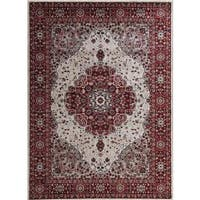 Persian Rugs Traditional Oriental Styled Red Background Area Rug (5'2 x 7'2)