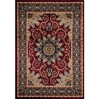 Persian Rugs Oriental Traditional Red Multi Colored Area Rug (5'2 x 7'2)