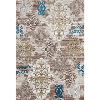 Persian Rugs Tribal Medallions Beige Multi Colored Area Rug (5'2 x 7'2)