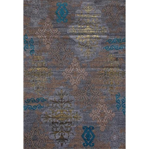 Shop Persian Rugs Tribal Medallions Gray Multi Colored