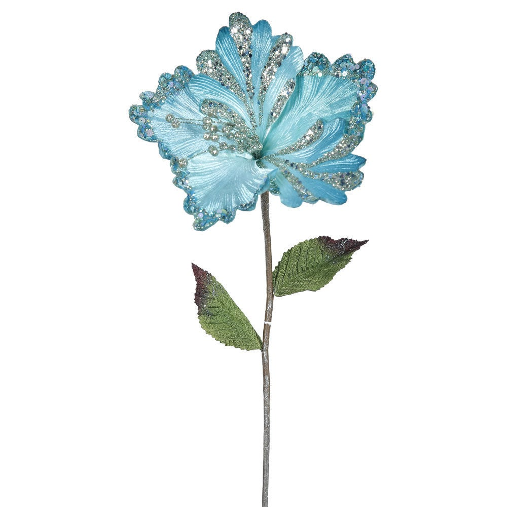 Vickerman Sea Blue 23-inch Hibiscus with 8-inch Flower (P...