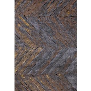Persian Rugs Rustic Wood Floor Grey Area Rug (6'5 x 9'2)
