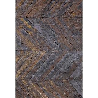 "Link to Persian Rugs Rustic Wood Floor Grey Area Rug - 5'2"" x 7'2"" Similar Items in Rugs"