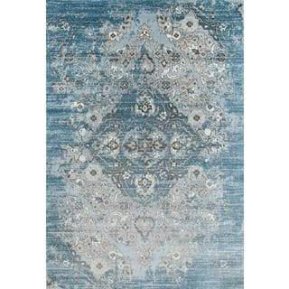 Persian Rugs Vintage Antique Designed Blue Beige Tones Area Rug (5'2 x 7'2)