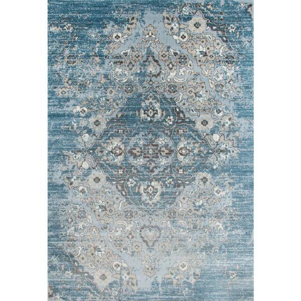 Shop Persian Rugs Vintage Antique Designed Blue Beige Tones Area Rug ...