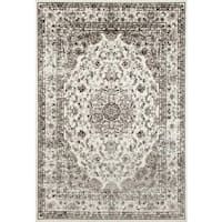Persian Rugs Antique Styled Multi Colored Cream/ Ivory Base Area Rug - 5'2 x 7'2