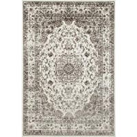 Persian Rugs Antique Styled Multi Colored Cream/ Ivory Base Area Rug (5'2 x 7'2)