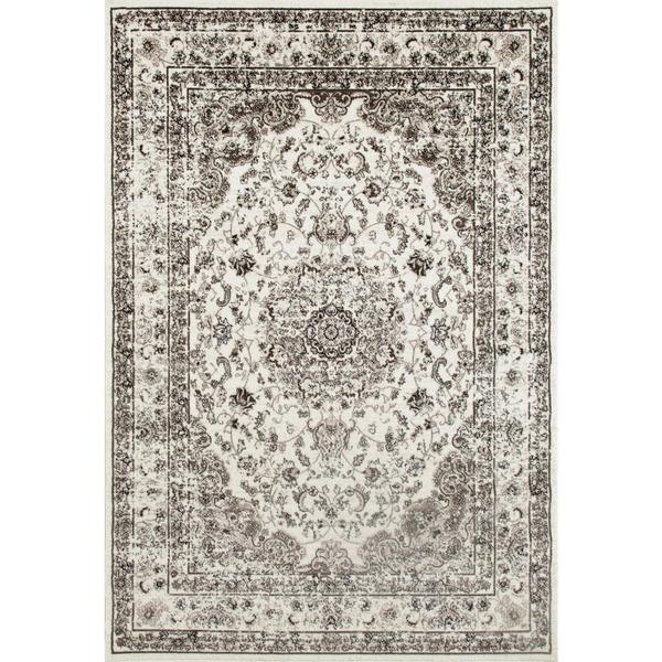 Persian Rugs Antique Styled Multi Colored Cream Ivory Base Area Rug 5 X27