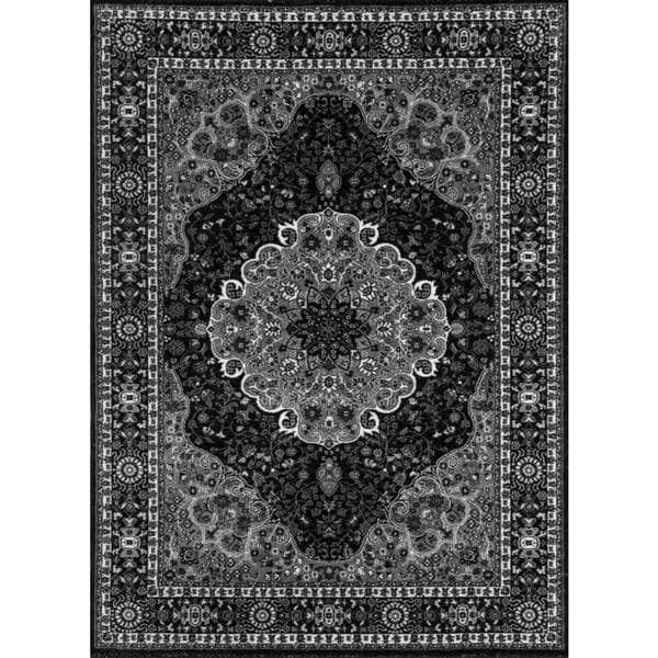 Persian Rugs Traditional Oriental Styled Grey Background Area Rug 7 X27