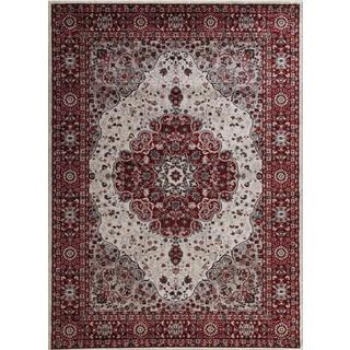 Persian Rugs Traditional Oriental Styled Red Background Area Rug (7'10 x 10'2)