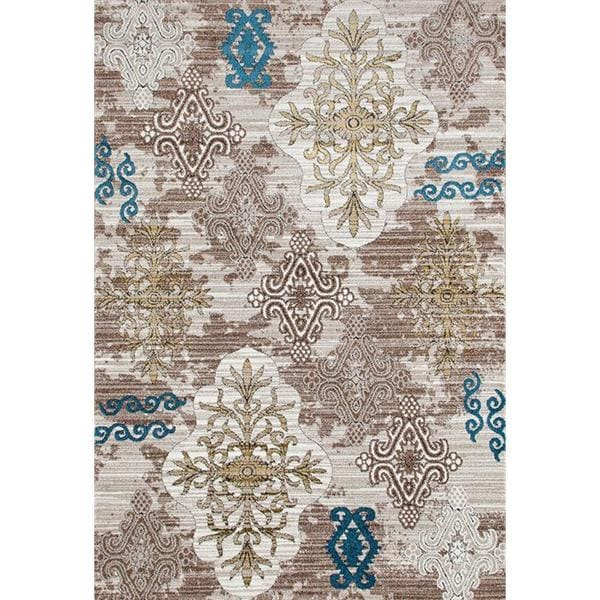 """Persian Rugs Tribal Medallions Beige Multi Colored Area Rug - 7'10"""" x 10'6"""""""