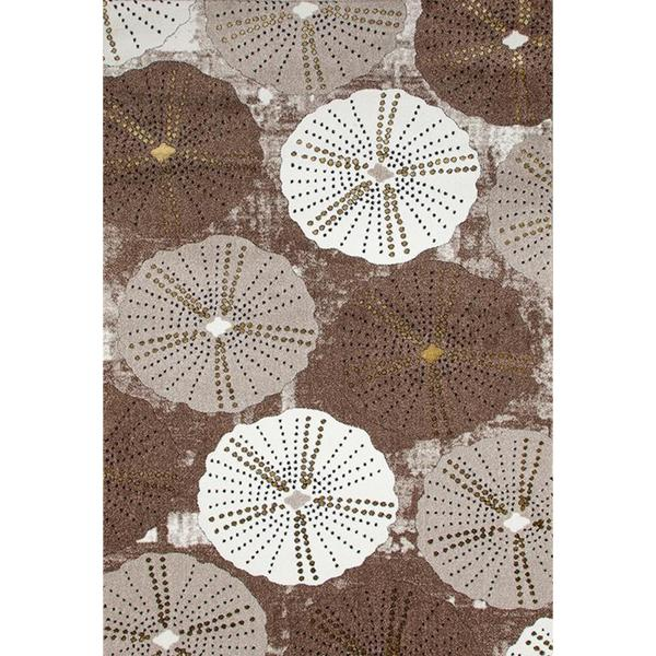 "Persian Rugs Parasol/ Umbrella Design Beige Area Rug - 7'10"" x 10'6"""