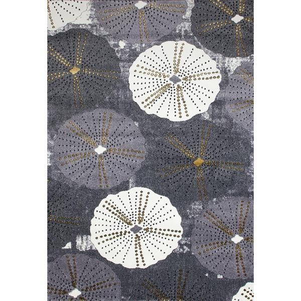 "Persian Rugs Parasol/ Umbrella Design Gray Area Rug - 7'10"" x 10'6"""