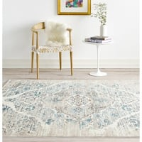 Persian Rugs Vintage Cream Area Rug (7'10 x 10'6)