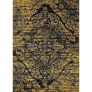 Persian Area Rugs Vintage Antique Designed Area Rug (710 x 106 - Gold)