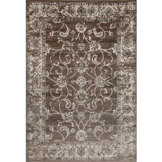 Persian Rugs Floral Oriental Multicolor Ivory Background Area Rug (7'10 x 10'6)